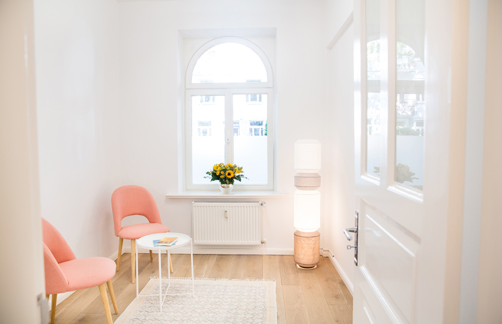 Wartezimmer der Praxis für Chinesische Medizin und Akupunktur Sabine Vahling in Hamburg Hoheluft